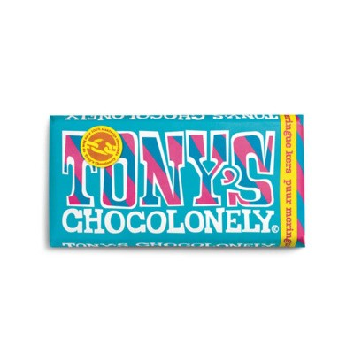 Tony's Chocolonely Puur Meringue Kers 180 gram