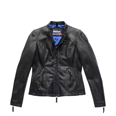 Blauer Padded Leather Jacket Ava Black