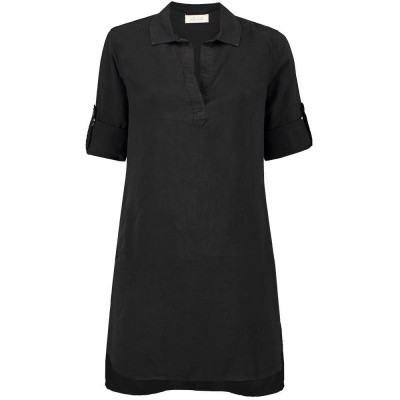 Foto van Bella Dahl Longsleeve A Line Shirt Dress Black