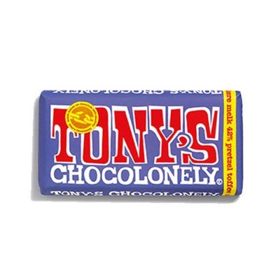Foto van Tony's Chocolonely Donkere Melk Pretzel Toffee