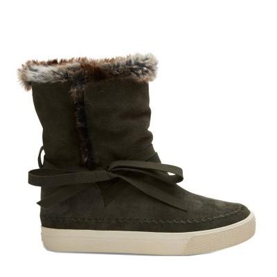Toms Vista Boot Suede Faux Fur Forest