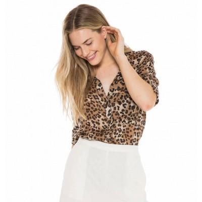 Foto van Bella Dahl Longsleeve Shirt Tail Button Down Leopard