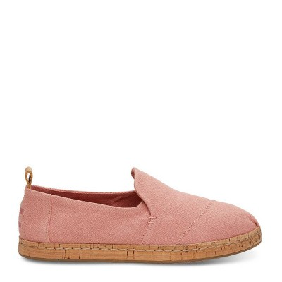 Toms Alpargata Bloom Hemp Cork Pink