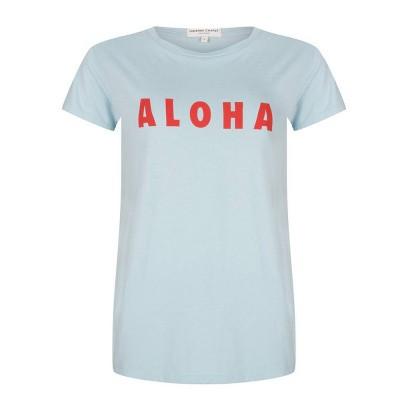 Fabienne Chapot Aloha T-Shirt Light Blue Scarlet Red