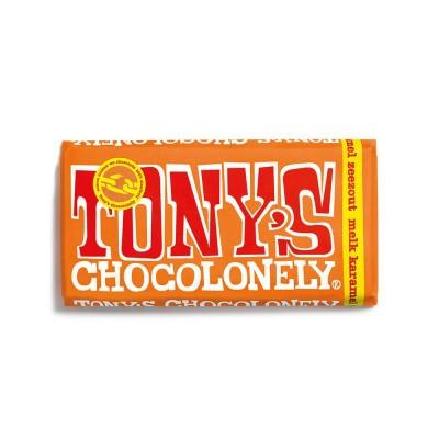 Foto van Tony's Chocolonely Melk Karamel Zeezout 180 gram