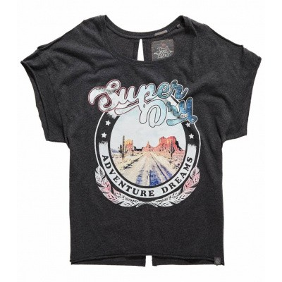 Foto van Superdry Desert Nevada Shoulder Tee Charcoal