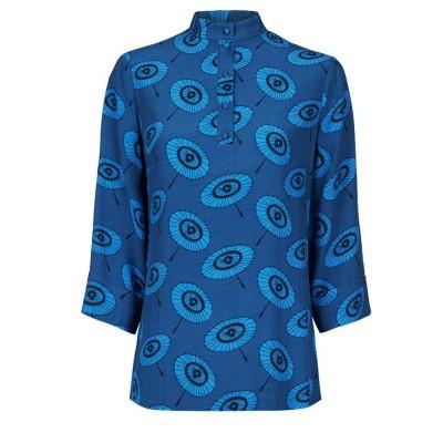 Fabienne Chapot Lidy Top Geisha Blue Print