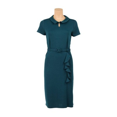 King Louie Britt Dress Milano Crepe Dragonfly Green