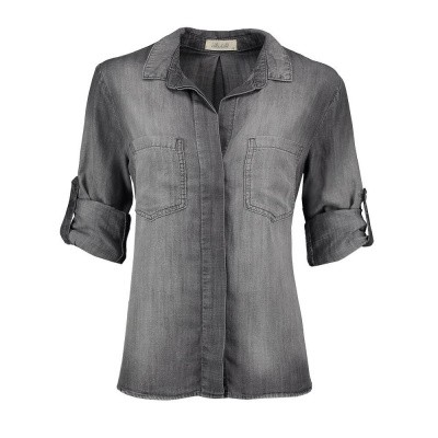 Foto van Bella Dahl Split Back Button Down Artic Grey Wash