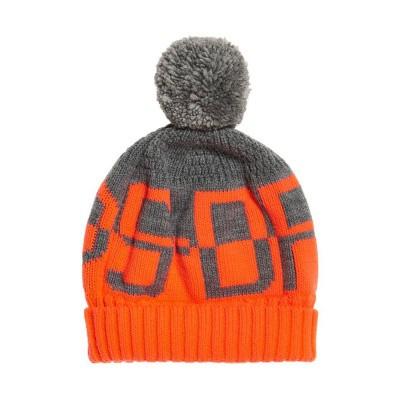 Superdry Snow Logo Beanie Grey Fluro Coral