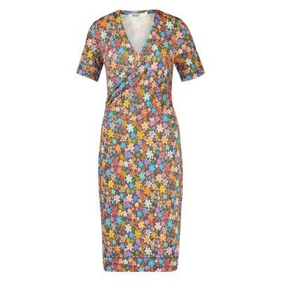 IEZ! Dress Wrap Jersey Prints Multi