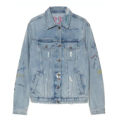 Foto van Zoe Karssen Obsession Denim Jacket Mid Wash Blue