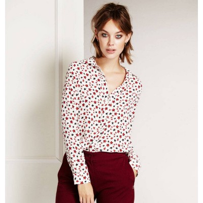 Fabienne Chapot Elise Blouse Circus Stars White Bright Red