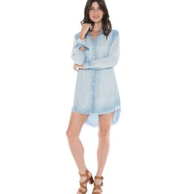 Foto van Bella Dahl Frayed Edge Hipster Dress Light Mist Wash