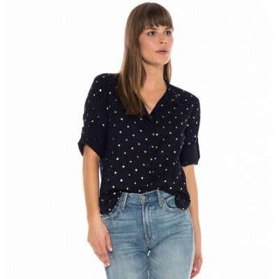Foto van Bella Dahl Capri Button Down Indigo Gold