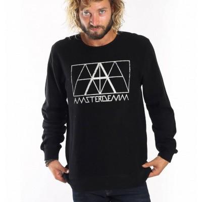 Foto van Amsterdenim Aad Crew Sweatshirt Black
