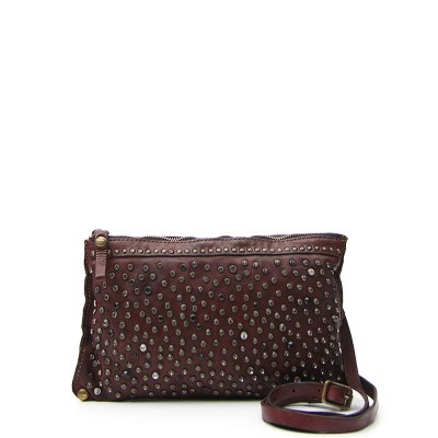 Foto van Campomaggi Pouch with studs in cognac leather