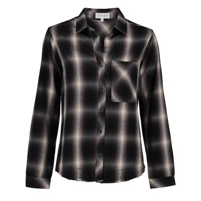 Foto van Bella Dahl Rounded Yoke Button Down Black