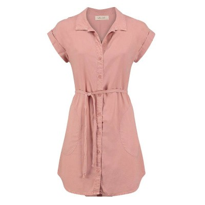 Bella Dahl Capsleeve Shirtdress Coral Sunrise