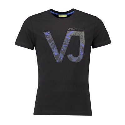Foto van Versace Jeans Slim T-Shirt Print Black
