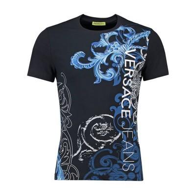 Foto van Versace Jeans Extra Slim T-Shirt Print Black