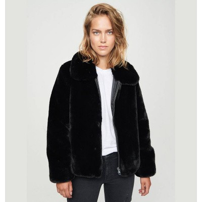 Zoe Karssen Straps Faux Fur Jacket Moonless Night