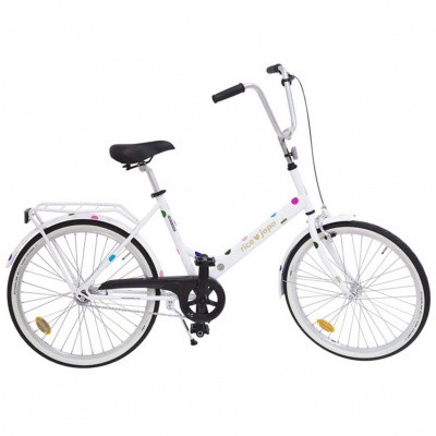 Foto van Rice JOPO Adult Bicycle White With Multicolored Dots