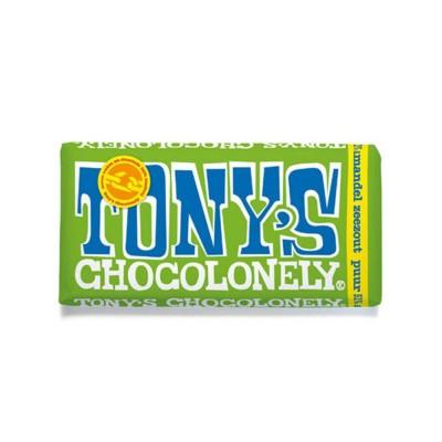 Foto van Tony's Chocolonely Puur Amandel Zeezout 180 gram