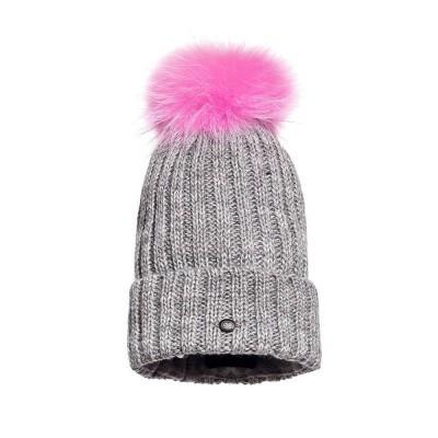 Foto van Goldbergh Christina Beanie Fur Grey Melange Wow Pink