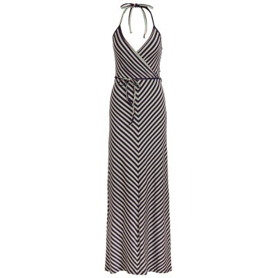 Foto van King Louie Maxi Halter Dress Rimini Stripe Blue
