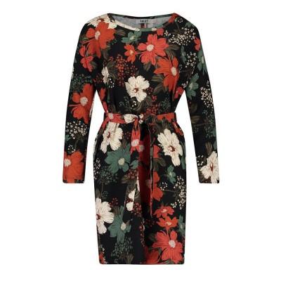 IEZ! Dress Tunic Short Satin Print Red