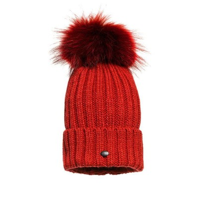 Foto van Goldbergh Naara Beanie Fur Poppy Red