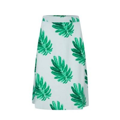 Fabienne Chapot Mae Skirt Light Blue Leaf Green