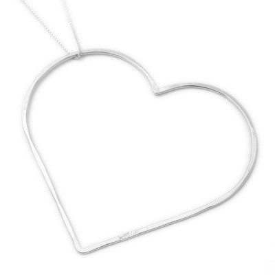 SeeMe Big Heart Long Venetian Chain Silver