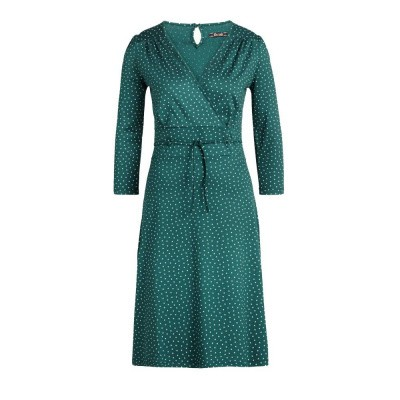 King Louie Cecil Dress Little Dots Dragonfly Green