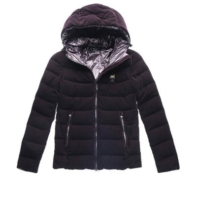 Blauer Down Jacket With Hood In Velvet Blackberry