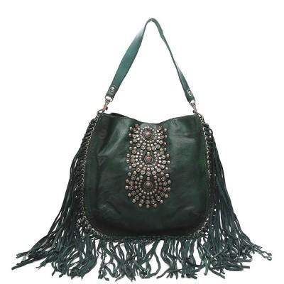 Foto van Campomaggi Single strap bag with fringes