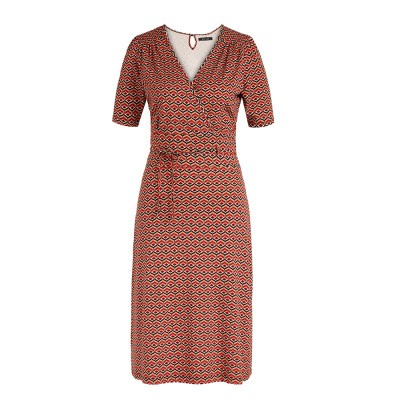 King Louie Cecil Dress Vongole Beet Red