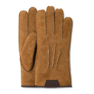 Foto van UGG Casual Glove With Leather Logo Chestnut