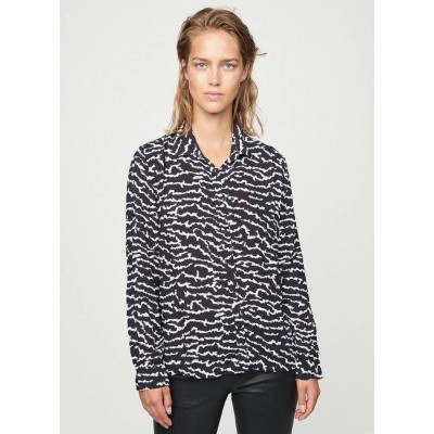 Foto van Zoe Karssen Animal All Over Crepe Shirt Moonless Night