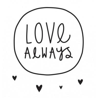 Foto van A Little Lovely Company Wall Sticker Love Always