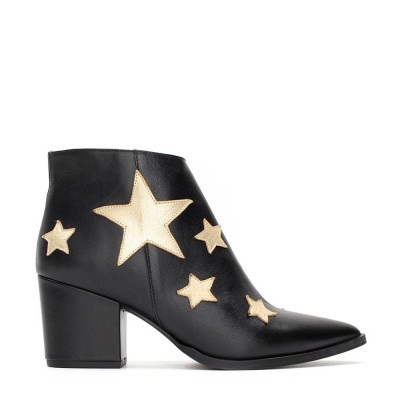 Fabienne Chapot Star Night Boot Black Champagne Metallic