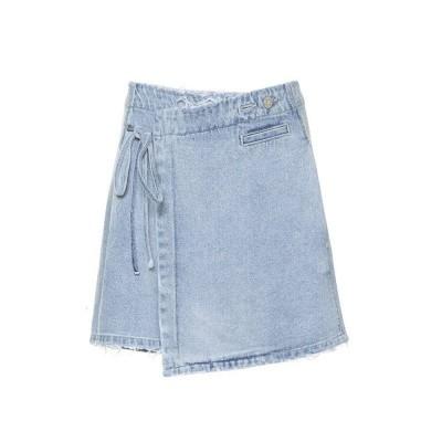 Zoe Karssen Ribbed Wrap Mini Skirt Stonebleach