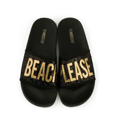 Foto van TheWhiteBrand Glitter Beach Please Black