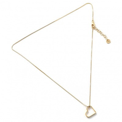 SeeMe Small Heart Short Venetian Chain Gold