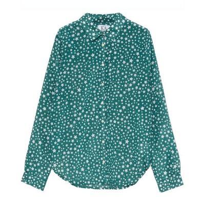Zoe Karssen Stars All Over Loose Fit Shirt Antique Green