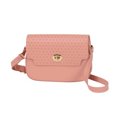 King Louie Perforated Midi Bag Peony Pink