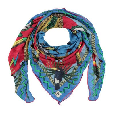 Foto van Birds On The Run Scarf Conversational Multicolour