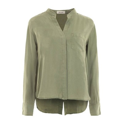Foto van Bella Dahl Slouchy Button Back Shirt Army Green