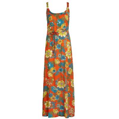 King Louie Allison Maxi Dress Chica Blazing Orange